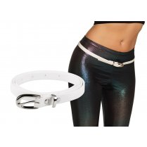 Festivalshop - Belt narrow white eighties - BO01986