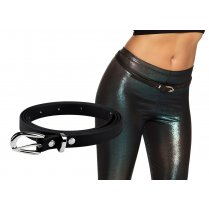 Festivalshop - Belt narrow black eighties - BO01985