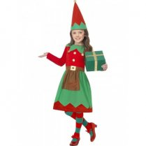 Festivalshop - Santa′s little helper Kerst elf jurk kid - SM39104