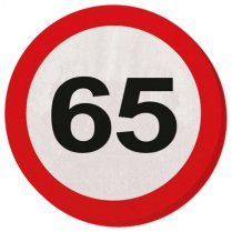 Festivalshop - Napkins road sign 65 years - 28365