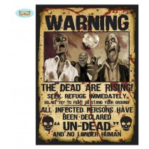Festivalshop - Set van 2 Zombie Warning Signs - FG19918