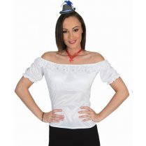 Festivalshop - Shirt Tirol Wit off the shoulder - 30/501236