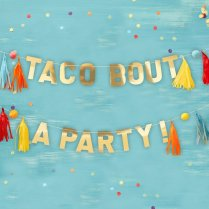 Festivalshop - Garland tassels Taco party Mexico - GRVF823