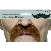 Festivalshop - Mustache red brown drooping - FA40242