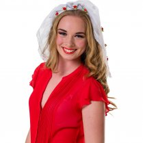 Festivalshop - Tiara bride with white veil and florets - FO29131