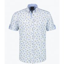 Festivalshop - Tirol shirt blue with deer - HH2754