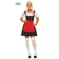 Festivalshop - Tirol girl dress black-red - FG84619