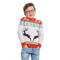 Festivalshop - Ugly Christmas Sweater Kind rendieren - WI7825