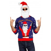 Festivalshop - Ugly Christmas Sweater Rocking Santa - WI7818
