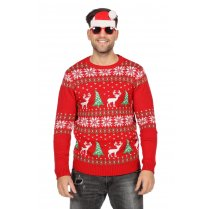 Festivalshop - Ugly christmas sweater rendier rood - WI7830