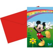 Festivalshop - Invitations Mickey Colors 6pcs - 2638P