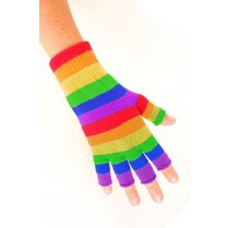 Festivalshop - Fingerless Gloves Rainbow - PX10836