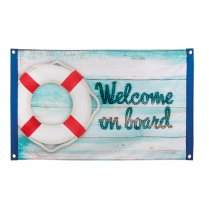 Festivalshop - Vlag Navy ′Welcome on board′ - BO44382