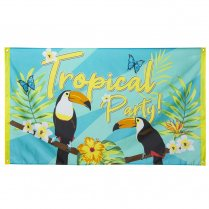 Festivalshop - Vlag tropical party toekan - BO52571