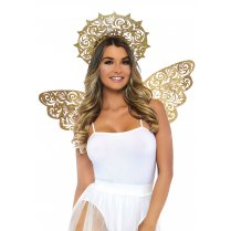 Festivalshop - Vleugels en aureool Golden Angel Kit - LAA2823