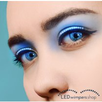 Festivalshop - Eyelashes LED blue light - AT1041