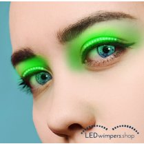 Festivalshop - Eyelashes LED green light - AT1042