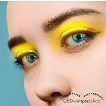 Festivalshop - Eyelashes LED light yellow pro - AT1006