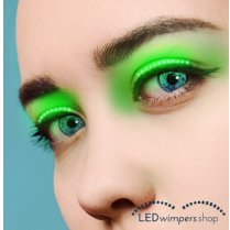 Festivalshop - Eyelashes LED light green pro - AT1002