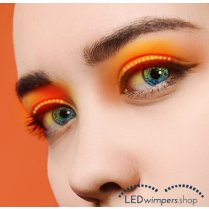 Festivalshop - Eyelashes LED light orange pro - AT1007