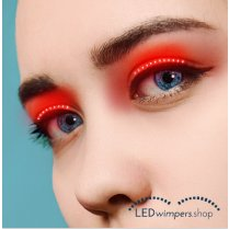 Festivalshop - Eyelashes LED light red pro - AT1004