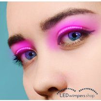 Festivalshop - Eyelashes LED light pink pro - AT1005