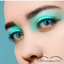 Festivalshop - Eyelashes LED light turquoise pro - AT1009