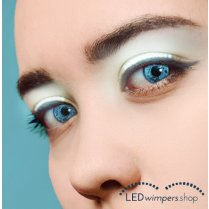 Festivalshop - Eyelashes LED light white pro - AT1003