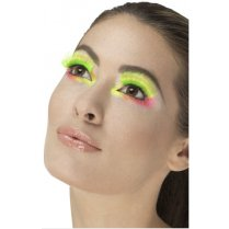 Festivalshop - Wimpers eighties party neon groen - SM48082