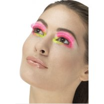 Festivalshop - Wimpers eighties party neon pink - SM48081