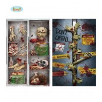 Festivalshop - Zombie Deur Decoratie in Folie - FG19916