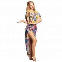 Festivalshop - Zomer tropical dame Hawaiian beauty - BO83835